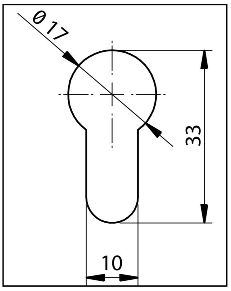 17mm profielcilinder