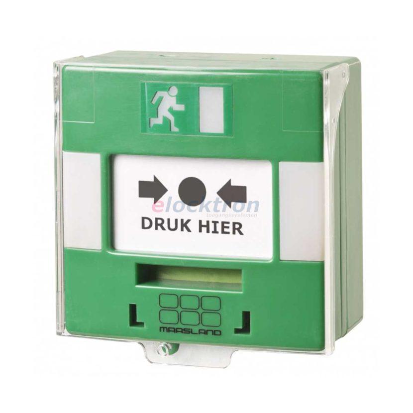 groene handmelder met led alarm en zoemer