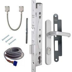 Solenoidslot EL460 set inclusief veiligheidsbeslag, sluitplaat, kabel, kabelovergang, krukstift en bevestiging