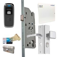 Toegangscontrole met vingerscanlezer, u kunt direct aan de slag met dit complete systeem