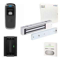 vingerscanlezer met kleefmagneet 2720N, compleet systeem inclusief voeding 4A, netvoedingskabel en drukknop