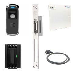 Vingerscanner met elektrische deuropener inclusief controller, voeding en netvoedingskabel