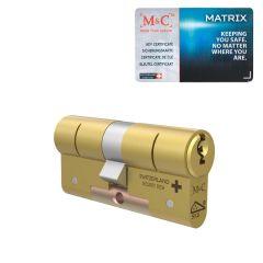 M&C Matrix Messing cilinder, SKG*** met certificaat