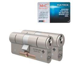 M&C Matrix standaard dubbele cilinder gelijksluitende set van 2 stuks