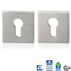 RVS mat vierkante veiligheidsrozet GPF9815.09