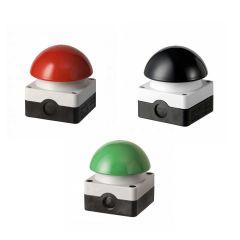 Paddestoelschakelaar; rode, zwarte of groene knop