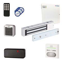 complete set wandlezer met afstandsbedienin icm kleefmagneet, voeding, netvoedingskabel, drukknop en tags