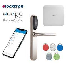 Startpakket Salto KS met elektronisch deurbeslag, IQ 2.0, 5 tags en een jaarlijkse licentie voucher