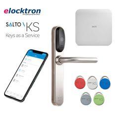 Startpakket Salto KS met elektronisch deurbeslag SKG**, IQ 2.0, licentie, 5 tags en reservebatterijen