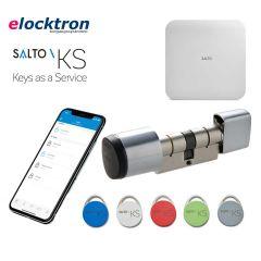 Startpakket Salto KS met elektronische knopcilinder GEO, IQ 2.0, tags en een jaarlijkse licentie voucher