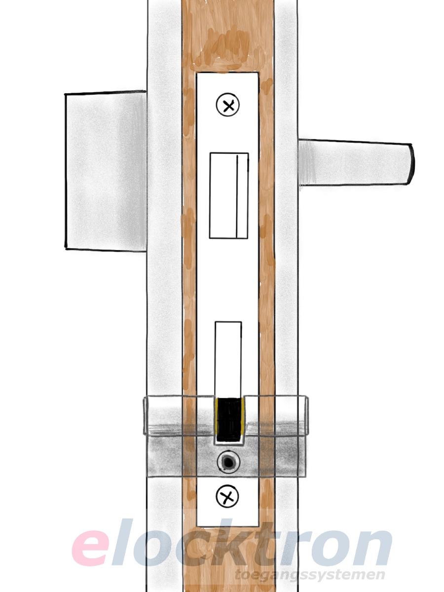 cilinderslot buitenzijde gelijk met beslag