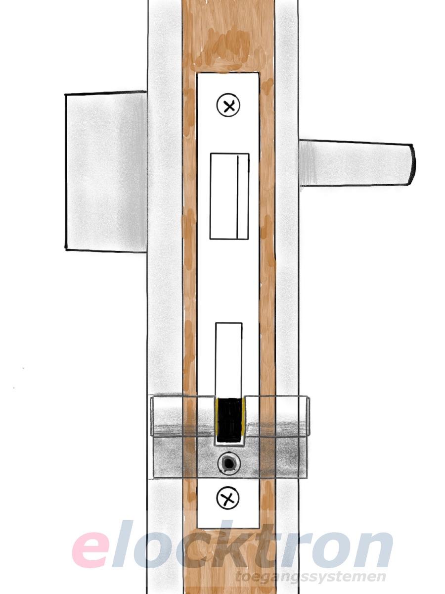 cilinder valt binnen het deurbeslag