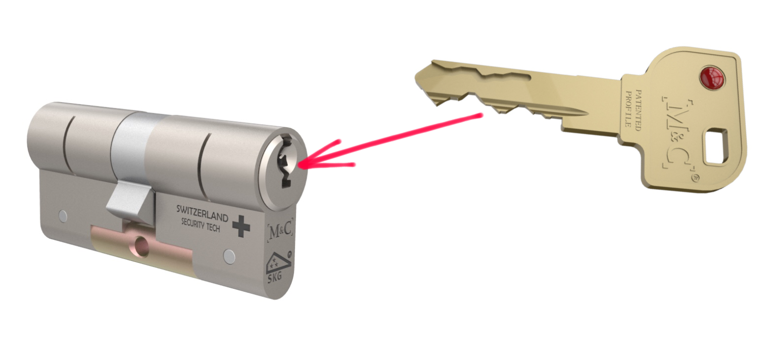 afbeelding deurslot met sleutel
